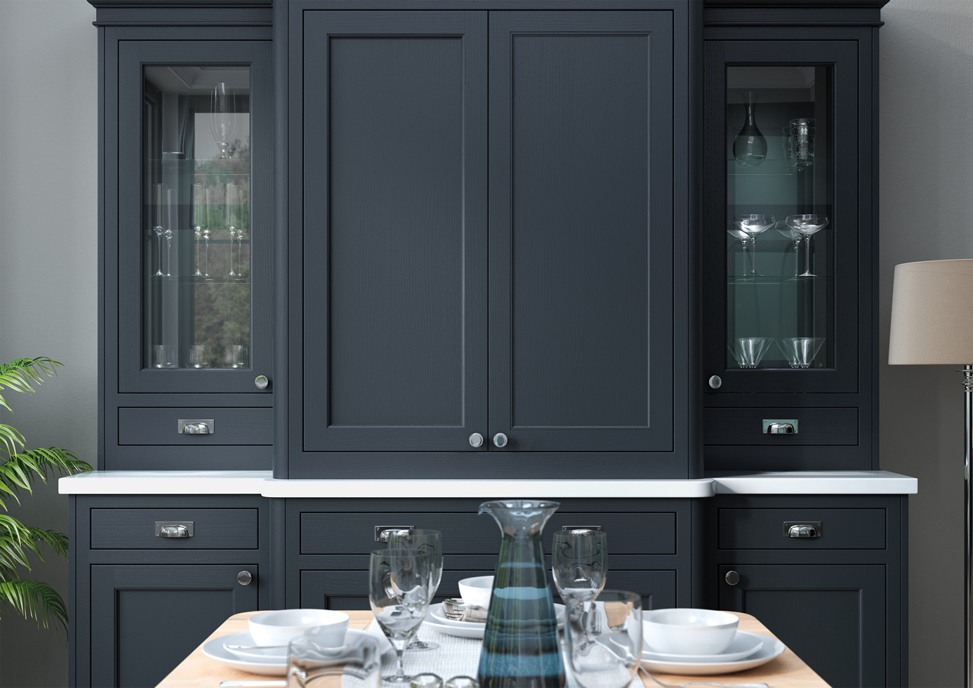 Belgravia Porcelain and Slate Blue Cameo 5 mya Kitchens Stafford