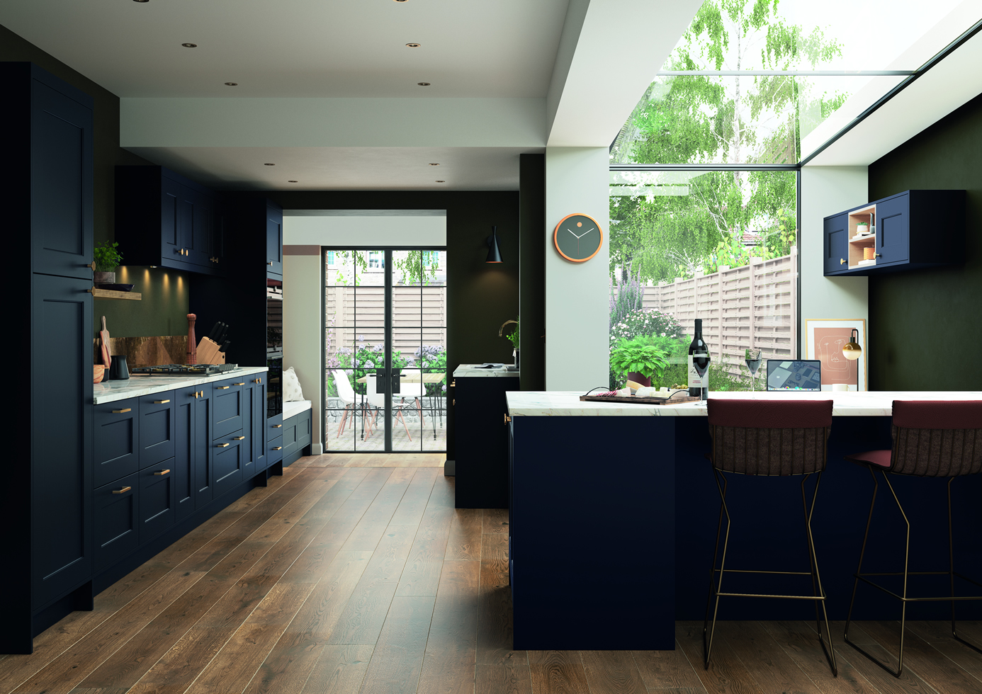 Florence Slate Blue Main Shot mya Kitchens Staffordshire