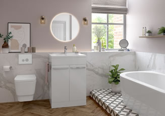 Mya Bathrooms Shropshire Morina White Gloss Link image