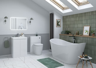Mya Bathrooms Staffordshire Lamra White Gloss Link image