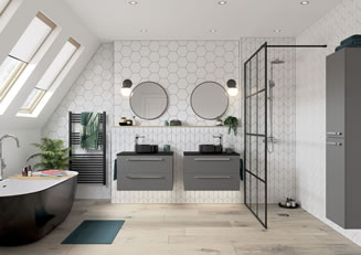 Mya Bathrooms Staffordshire Morina Matt Urban Grey Link image
