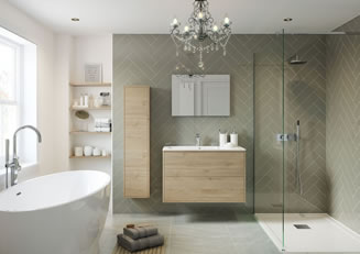 Mya Bathrooms Staffordshire Perla Havana Oak Link image