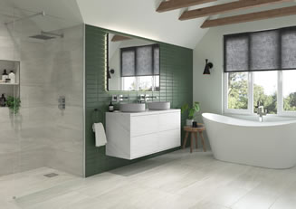 Mya Bathrooms Staffordshire Perla Marble Link image