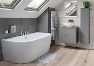 Mya Bathrooms Staffordshire Perla Matt Grey Link image