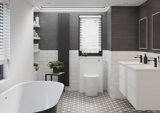 Mya Bathrooms Staffordshire Perla Matt White Link image