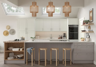 mya Kitchens Shropshire Madison Light Oak and Ivory link image