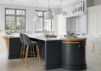 Mya Kitchens Belgravia Porcelain and Slate Blue Link image Stafford