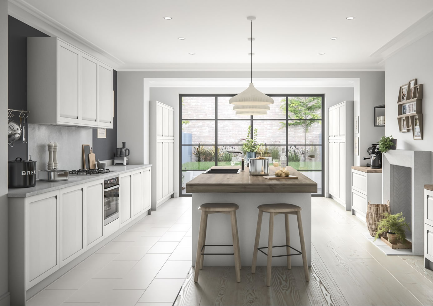 Mya Kitchens Harborne Light Grey Main Photo Walsall