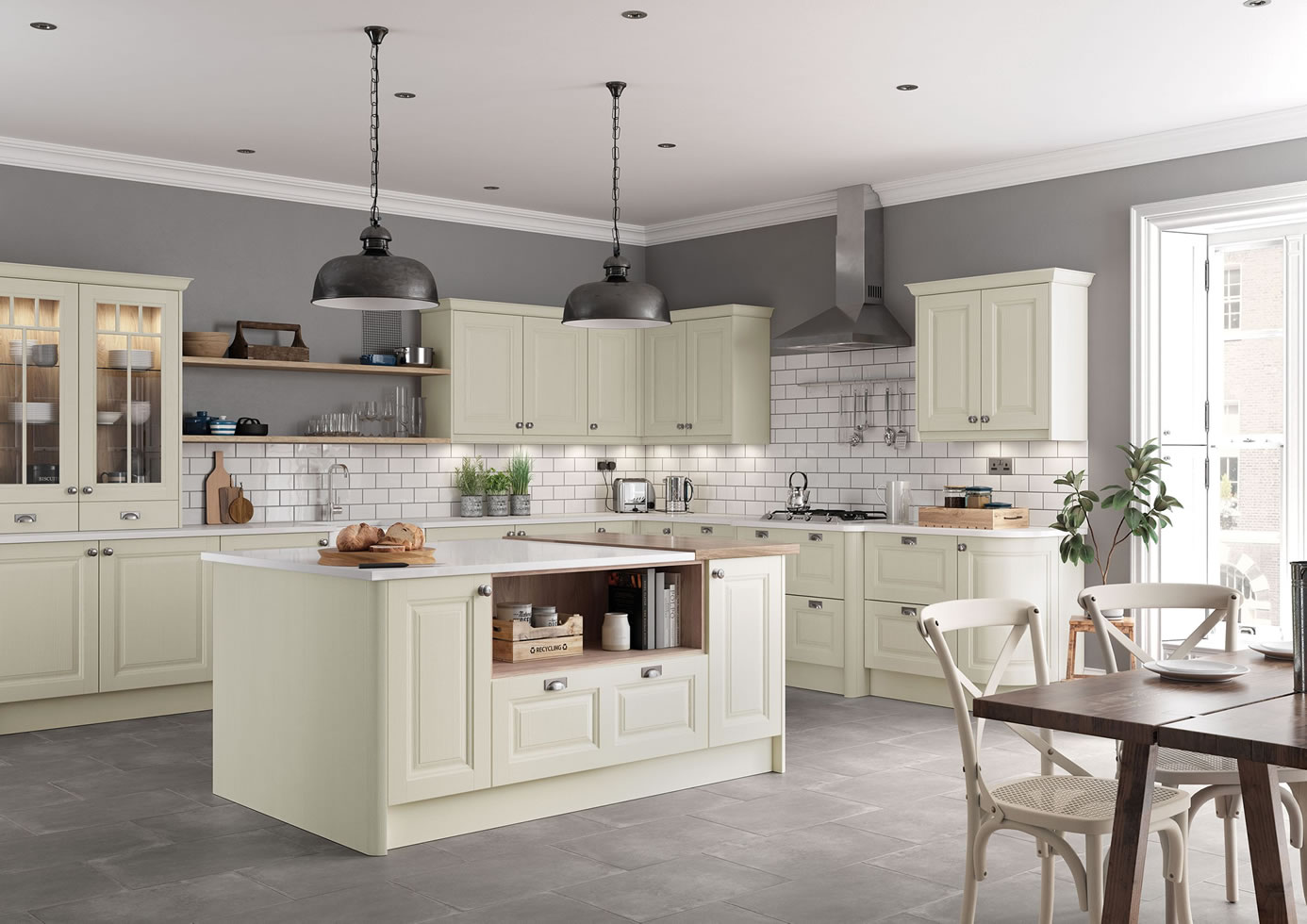 Mya Kitchens Jefferson Ivory Main Shot Walsall