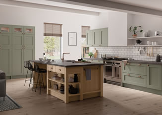 Mya Kitchens Wakefield Cardamom and Light Oak Link image Stafford