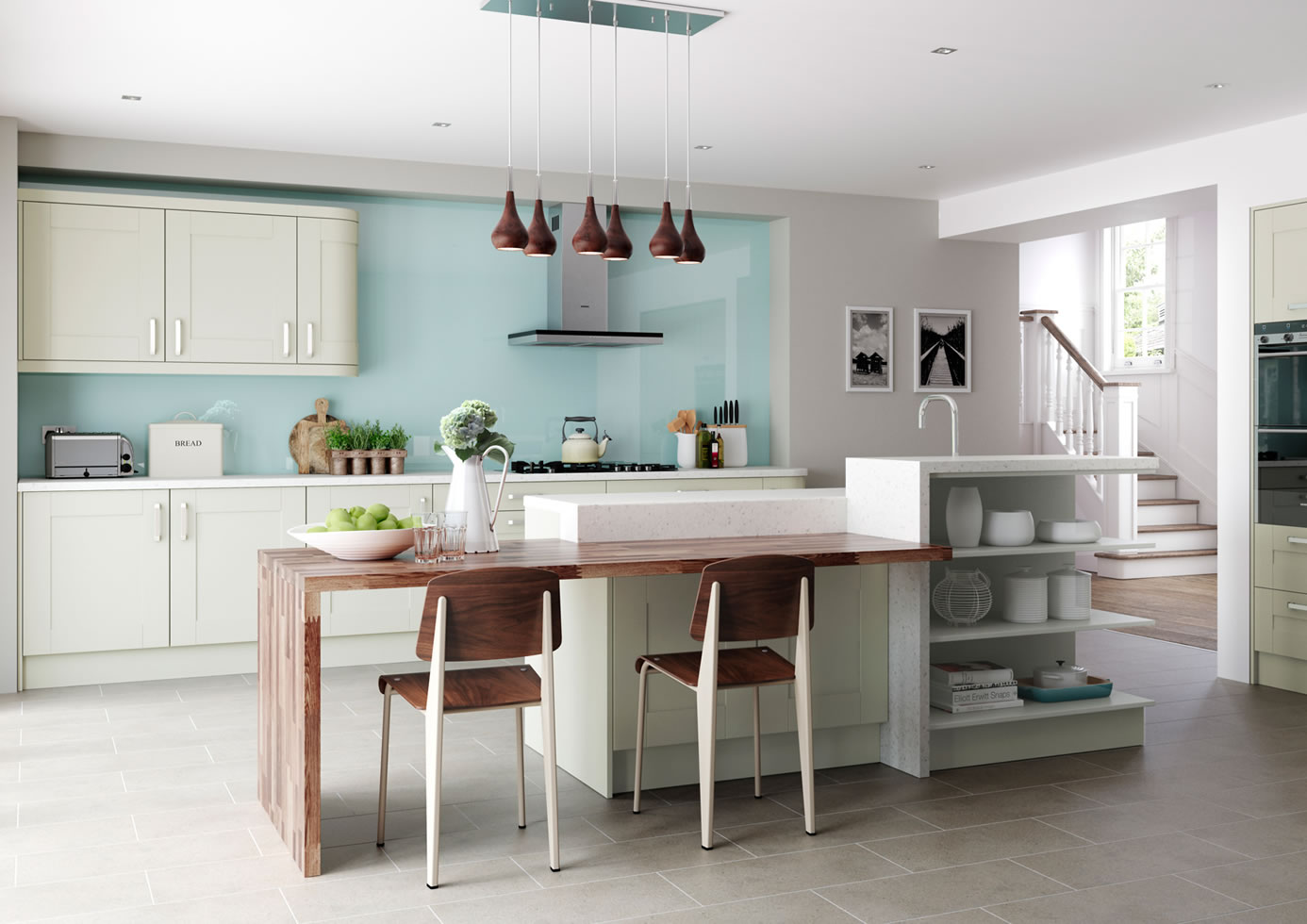 Mya Kitchens Windsor Shaker Mussel Main Image Stafford