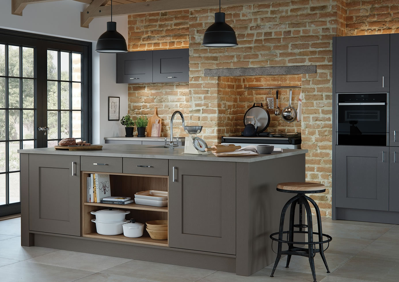 mya Kitchens Clonmel Lava and Graphite main mage Penkeridge