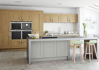 mya Kitchens Clonmel Light Oak and Stone link image Penkeridge