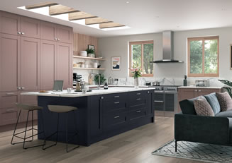 mya Kitchens Penkeridge Madison Vintage Pink and Slate Blue link image