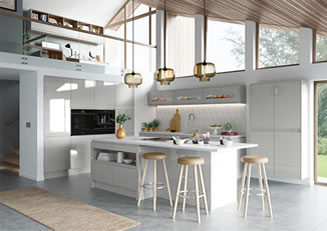 mya Kitchens Penkeridge Strada Gloss Light Grey link image