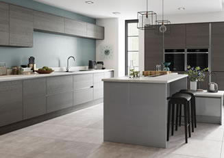 mya Kitchens Stafford Tavola Anthracite and Zola Gloss Dust Grey link image