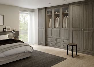 mya bedrooms Telford Santana bedroom in Swiss Elm Dark