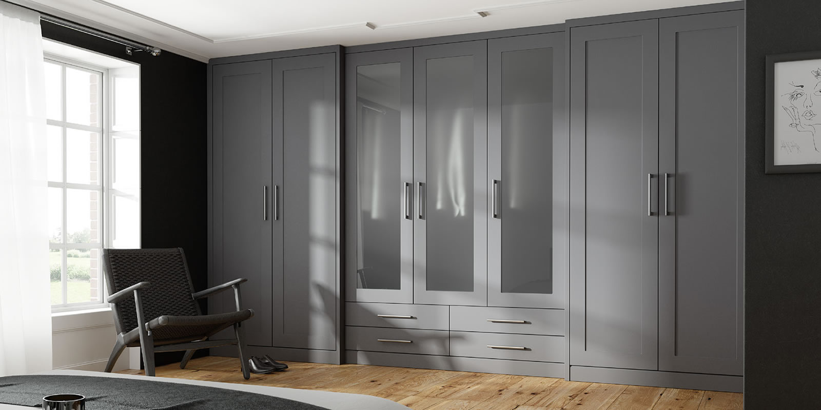 mya bedrooms and kitchens Wolverhampton shaker no grooves main slider background image