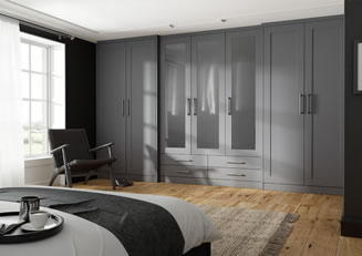 mya bedrooms staffordshire Contemporary Shaker no Grooves bedroom link image