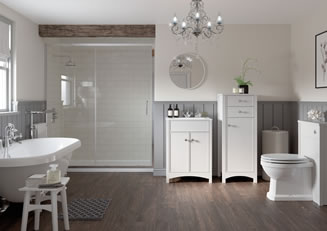 Mya Bathrooms Telford Lucia Satin White Ash Link image