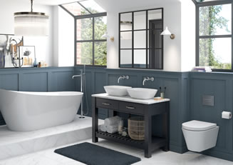 Mya Bathrooms Telford Manhattan Matt Navy Link image