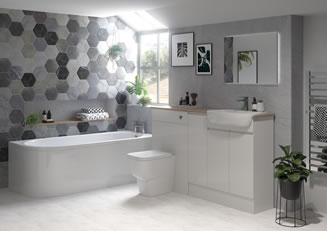 Mya Bathrooms Telford Valesso Onyx Pearl Grey Gloss Link image