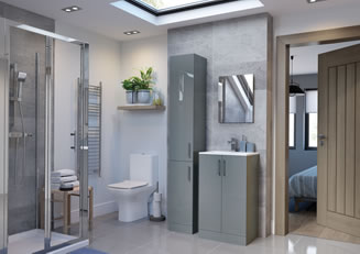 Mya Bathrooms Telford Volta Grey Gloss Link image