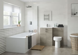 Mya Bathrooms Telford Volta Grey Nordic Wood Link image