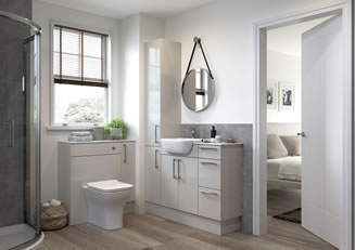 Mya Bathrooms Wolverhampton Alba Light Grey Gloss Link image