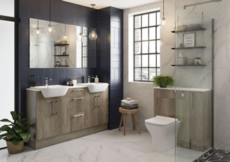 Mya Bathrooms Wolverhampton Alba Nebraska Oak Link image