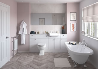 Mya Bathrooms Wolverhampton Benita Satin White Ash Link image