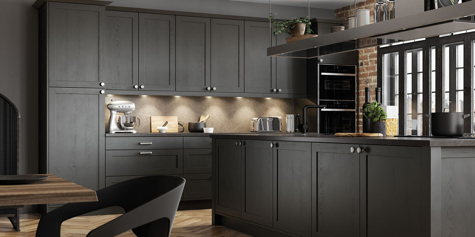 mya bedrooms and kitchens Wolverhampton Aldana-Graphite slider background image