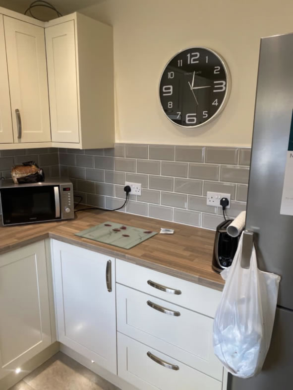 Mya Home fitted kitchens Aldana painted ivory shown in Armitage Rugeley 3