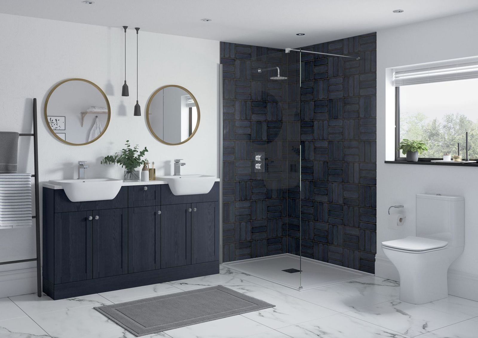 Mya Fitted Bathrooms Benita Indigo Ash Main Photograph