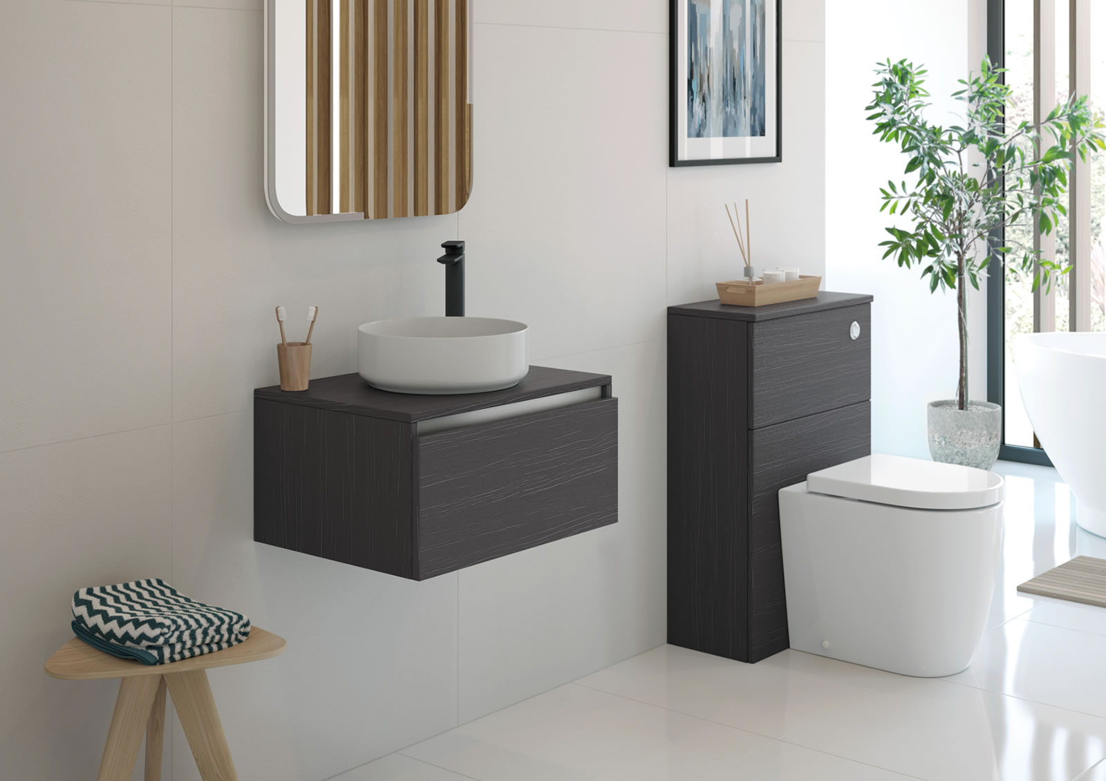 Mya Fitted Bathrooms Carino Graphitewood Main Photograph