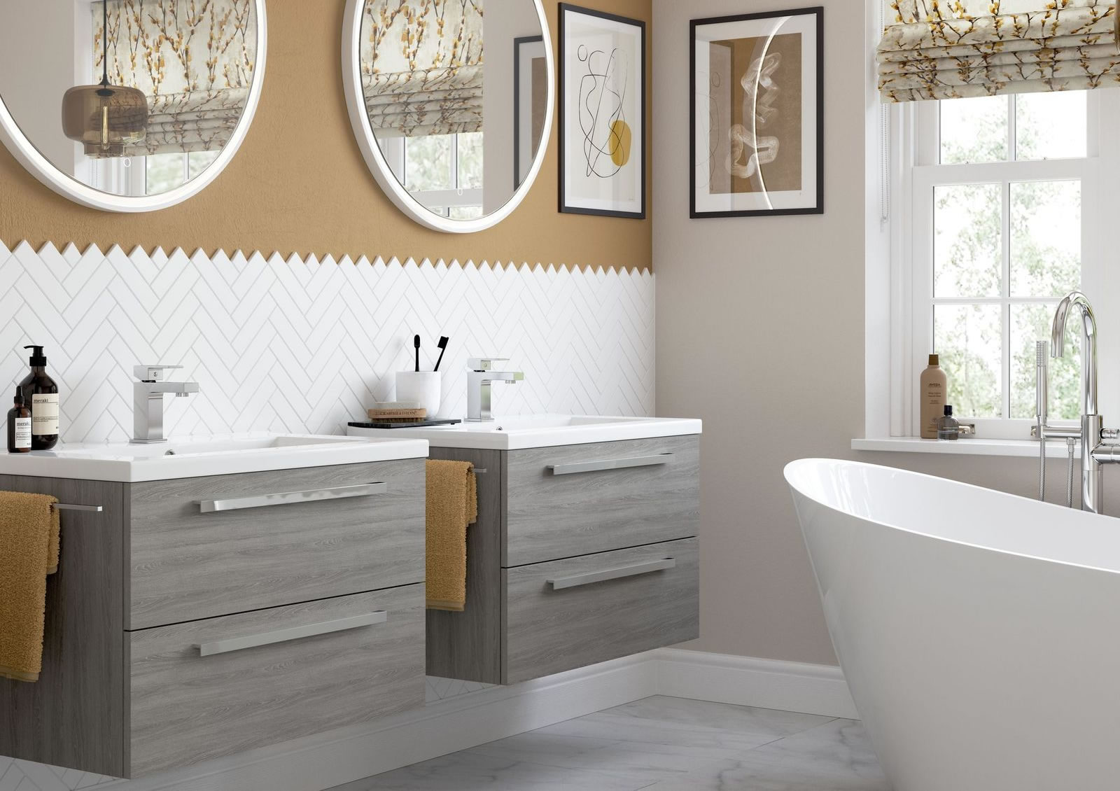 Mya Fitted Bathrooms Morina Elm Grey Main Photograph