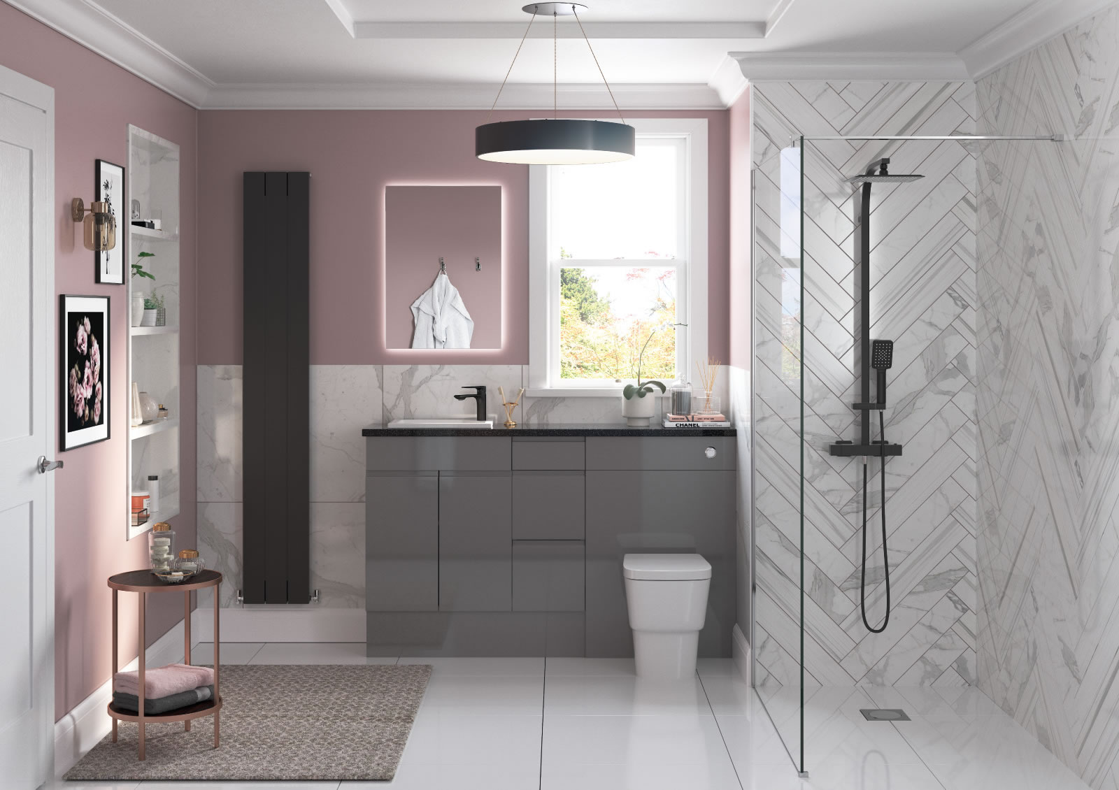 Mya Fitted Bathrooms Valesso Onyx Grey Gloss Main Photograph