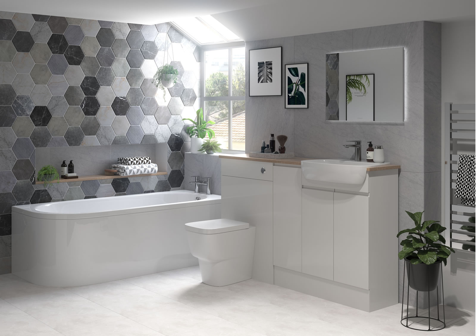 Mya Fitted Bathrooms Valesso Pearl Onyx Grey Gloss Main Photograph