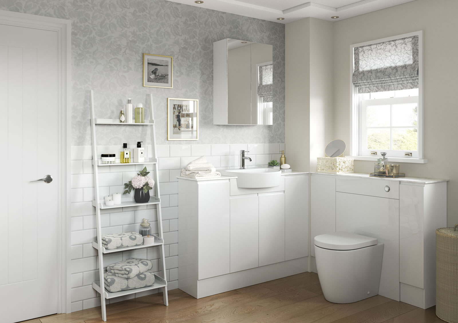 Mya Fitted Bathrooms Valesso White Gloss Main Photograph