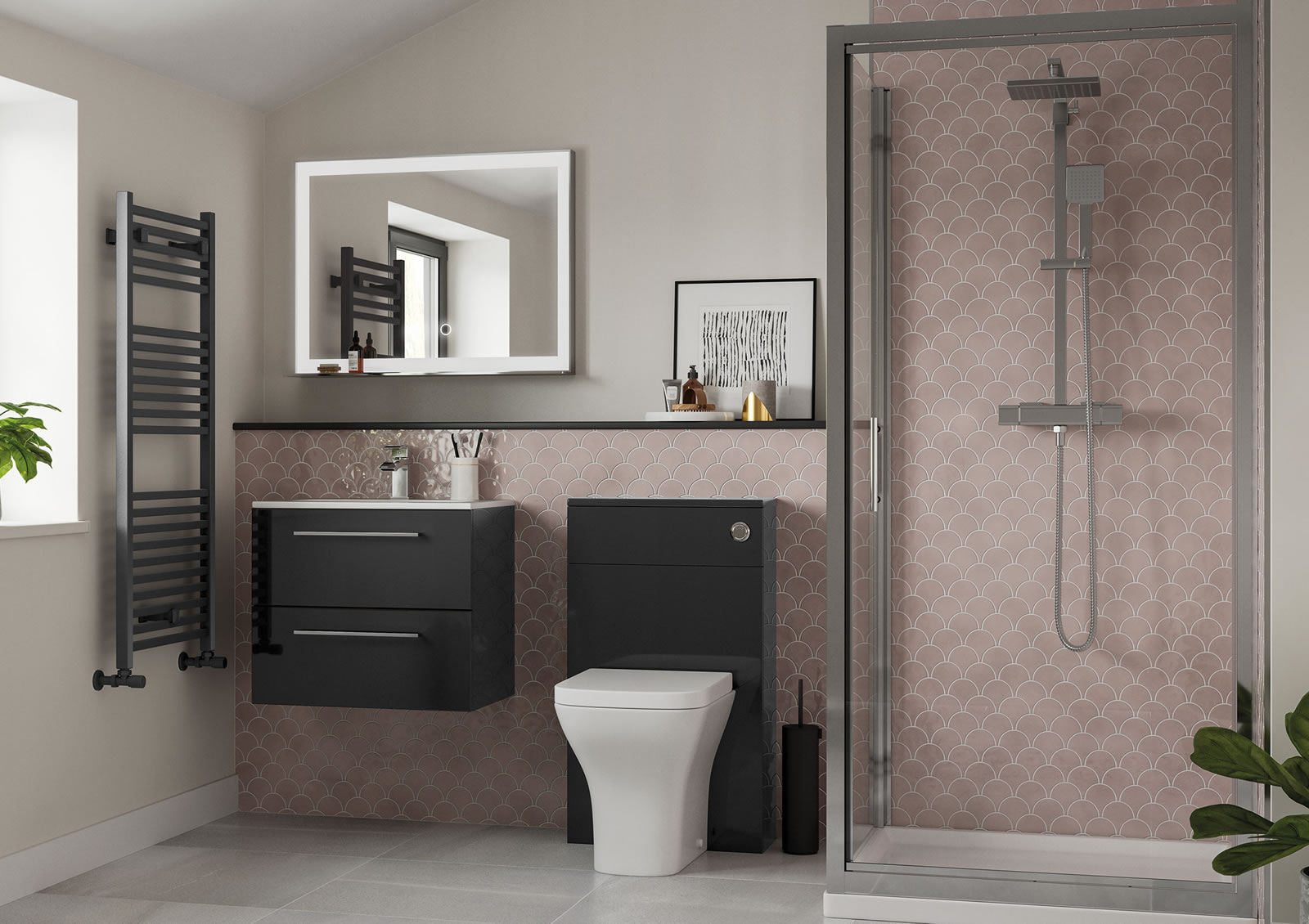 Mya Fitted Bathrooms Volta Anthracite Gloss Main Photograph