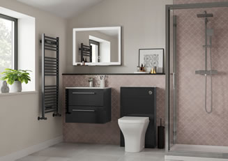 Mya Fitted Bathrooms Volta Anthracite Gloss Link Photograph