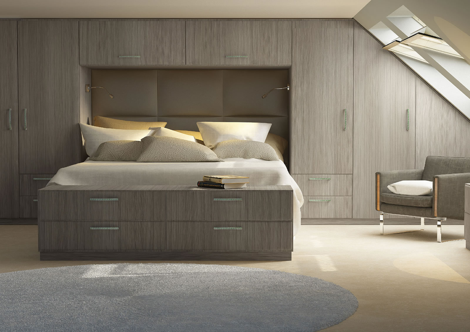 Mya fitted Bedrooms Astana shown in Driftwood Main photograph