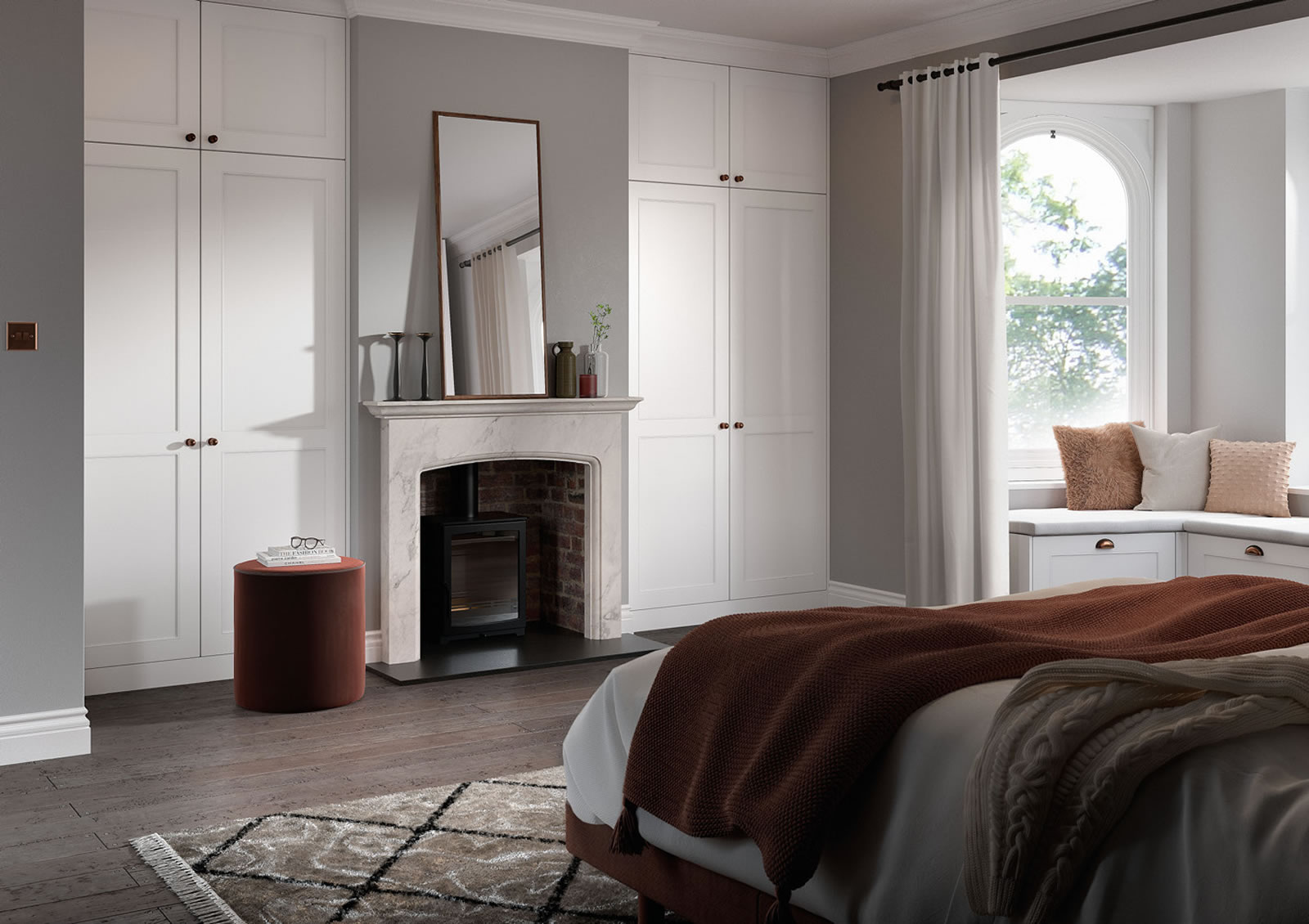 Mya fitted Bedrooms Chester in White Smooth Main photograph